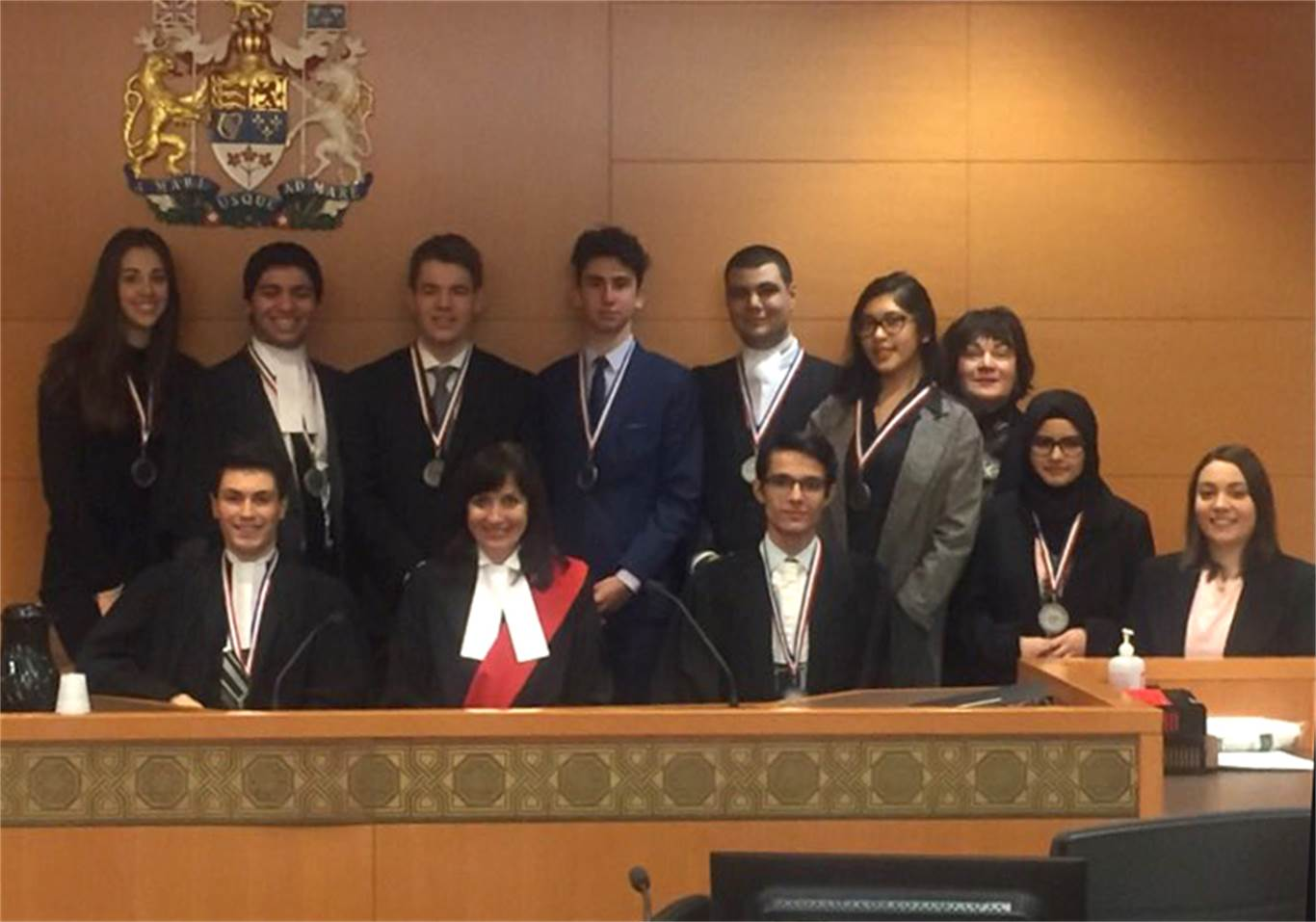 The Mock Trial Team from St. Thomas More Catholic Secondary School finished 2nd in this year's Competitive Mock Trials at the John Sopinka Courthouse on April 6 & 7.