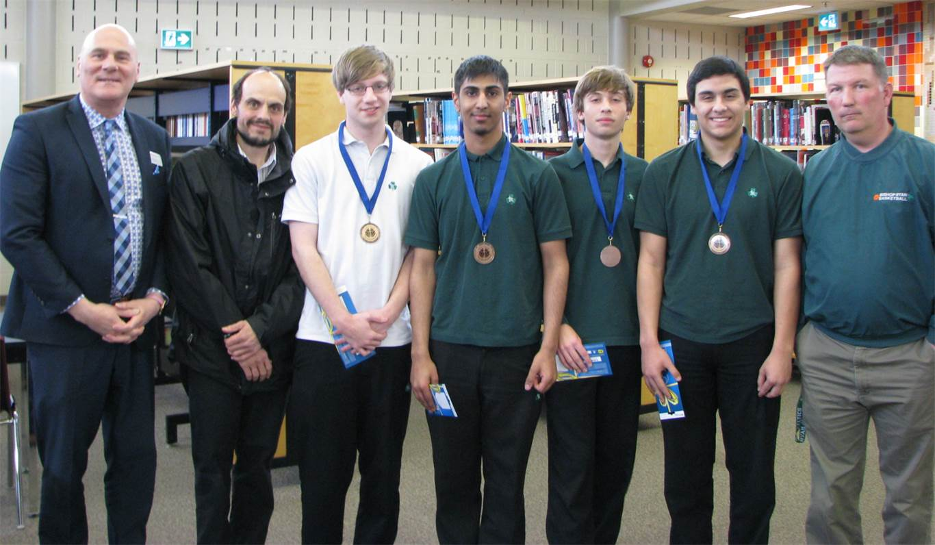 The computer programming team from Bishop Ryan placed 3rd in this year's Programmania competition held on March 31st at St. Jean de Brebeuf.