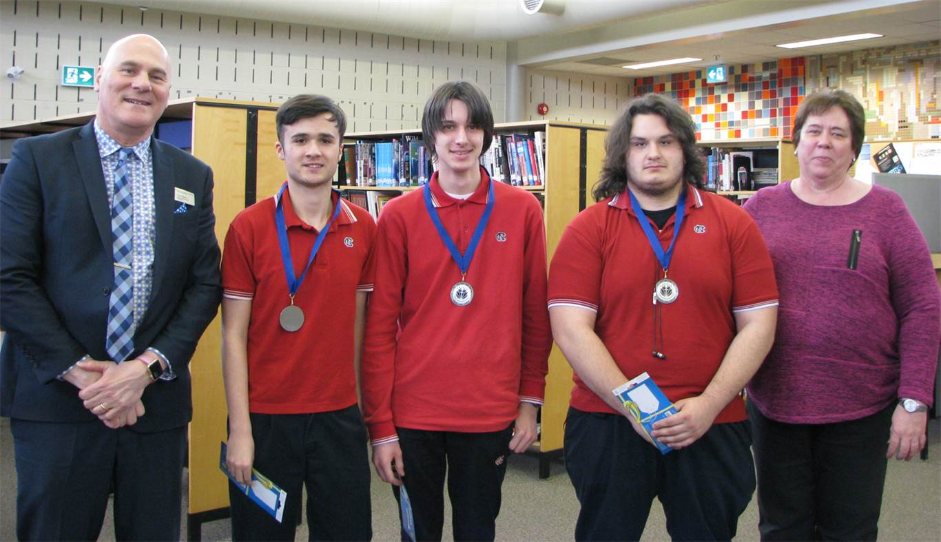 Cardinal Newman won 2nd place at Programmania, an annual competition in which students are challenged to complete four programming tasks within three hours.
